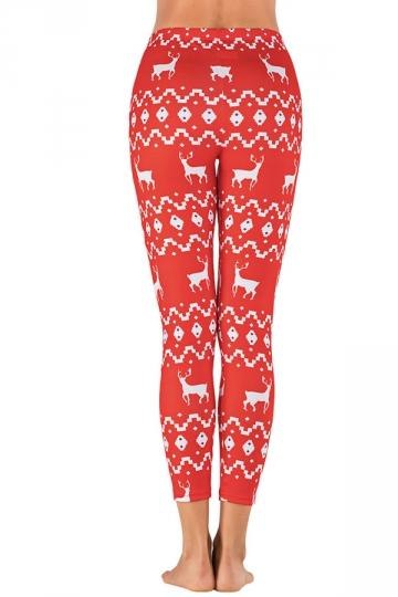 Womens Reindeer Leggings for Christmas