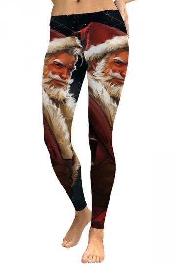 Plus Size Christmas Santa Claus Leggings