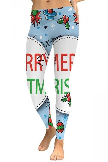 Merry Christmas Leggings White