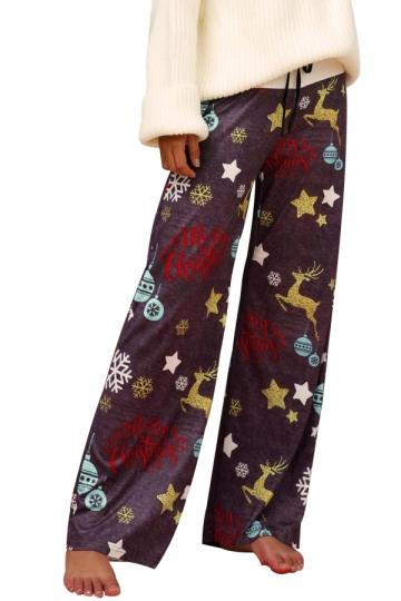 Womens Christmas Reindeer Pajama Pants