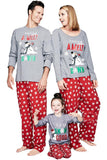 Mens Snowman Snowflake Printed Christmas Family Pajama Set Gray