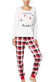 Family Christmas Pajama Sets Christmas Plaid Bear Snowflake Matching Sleepwear