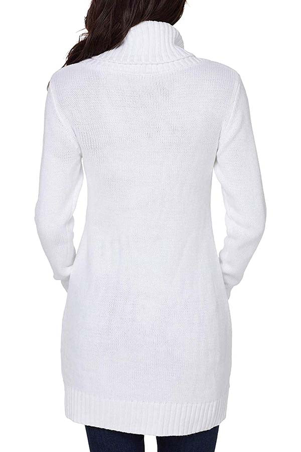 Turtleneck-white