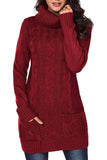 Turtleneck-wine Red