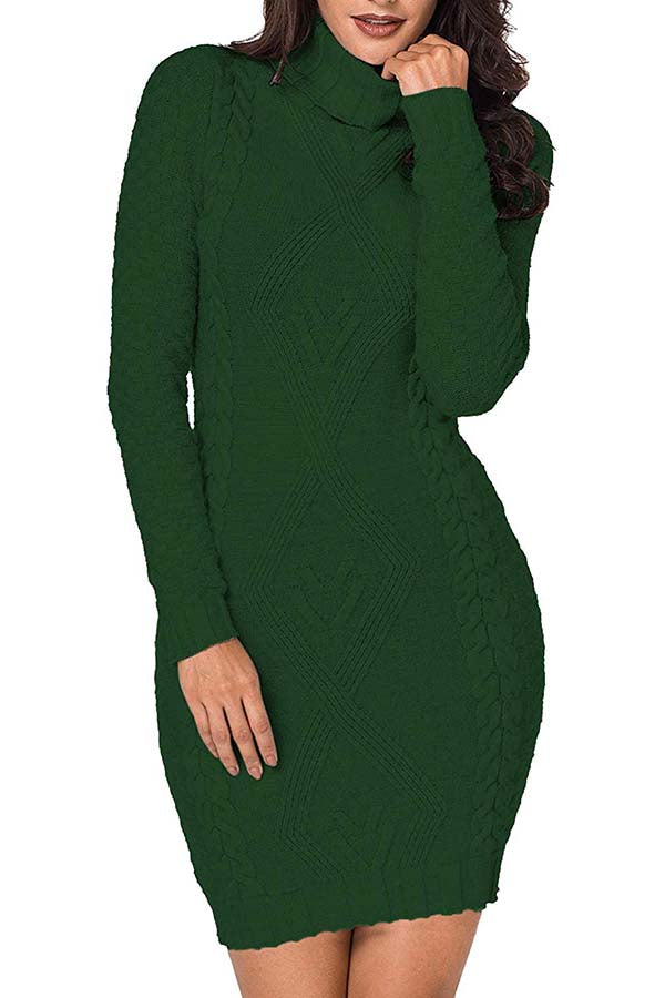 01turtleneck-dark Green