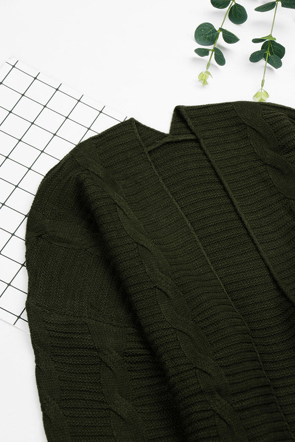 Cable Knit-Olive