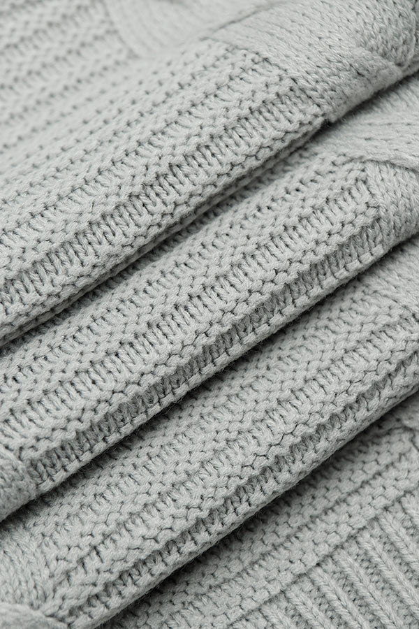 Cable Knit-Gray
