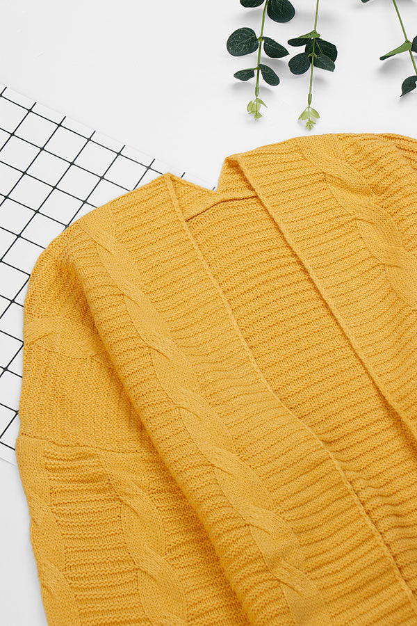 Cable Knit-Yellow