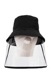Unisex Outdoor Windproof Baseball Cap Bucket Hat With Protective Shield Visor For Splash Protection