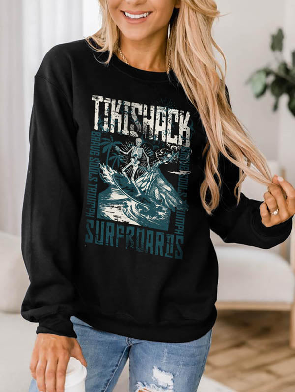 Skeleton Surfing Cool Sweatshirts