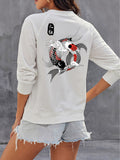 Koi Fish Vintage Sweatshirts For Women