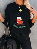 Women Christmas Socks Print Black