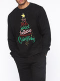 Men Christmas Letter Tree Black