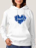 Mama Sweatshirt Heart Graphic Sweatshirts