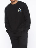 Mens Black Sweatshirt Recycle Graphic Sweatshirts