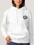 Womens Not Of This Earth Long Sleeve White Hoodie