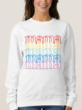 Mama Sweatshirt Women Cute Mom Shirts Tops