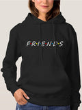 Friends Hoodie Womens Pullover Black Hooded Sweatshirt