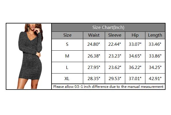 Women's V Neck Lace up Back Club Mini Bodycon Metallic Dress