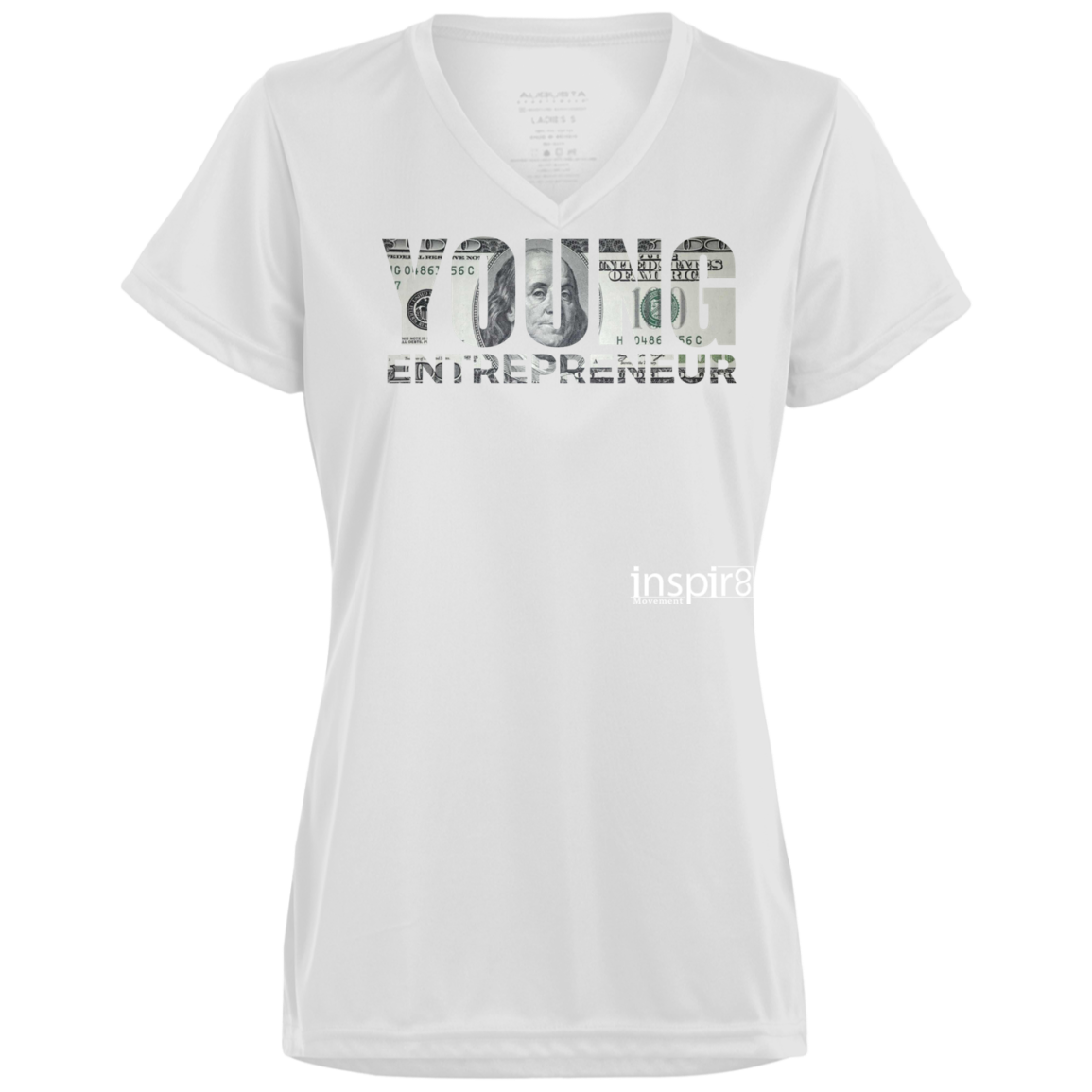 Ladies' V-Neck T-Shirt - inspirational and motivational clothing