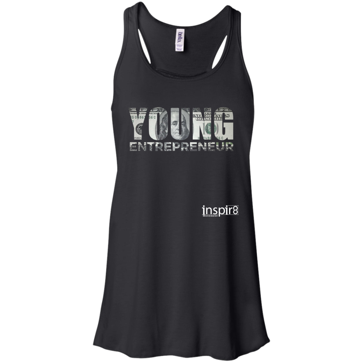 Women's Young Entrepreneur Flowy Racerback Tank - inspirational and motivational clothing
