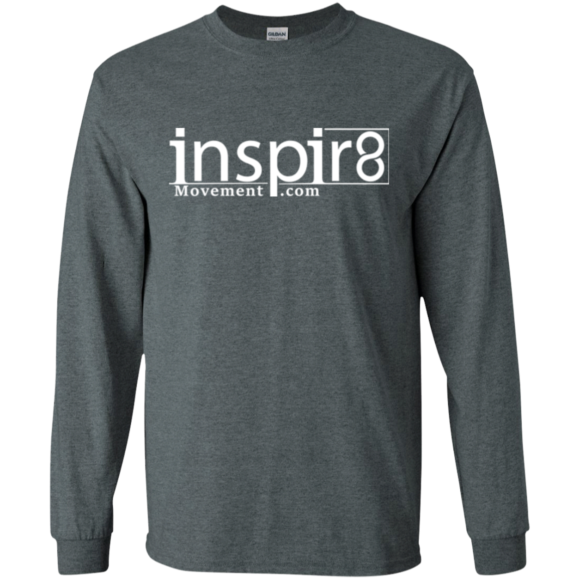 Official Men's Long Sleeve inspir8movement.com Shirt for inspirational and motivational clothing