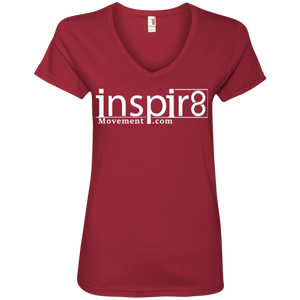 Official inspir8movement.com Women's V-Neck T-Shirt