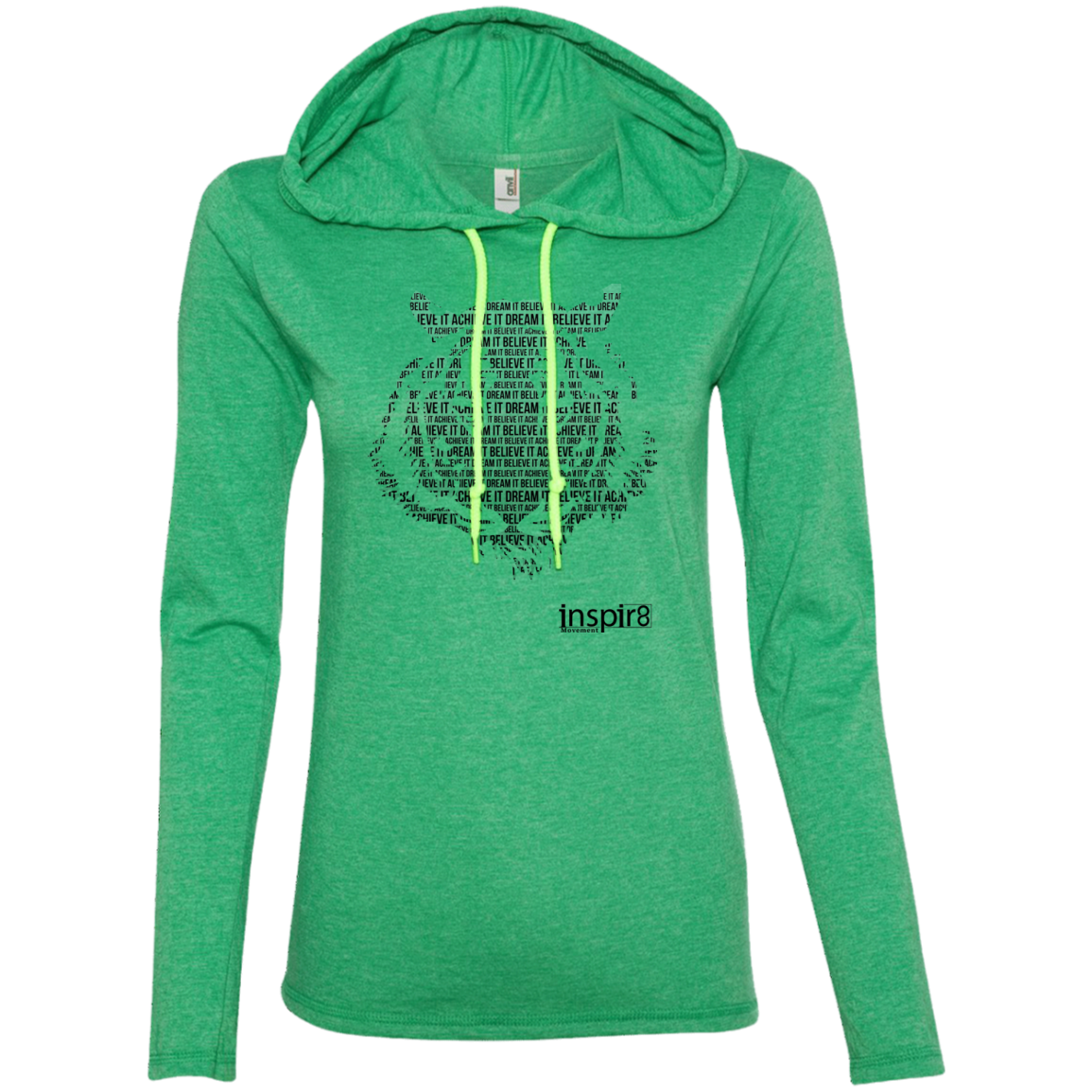 Ladies' T-Shirt Hoodie - inspirational and motivational clothing