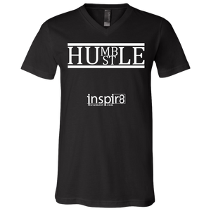 HUMBLE HUSTLE Men's V-Neck T-Shirt