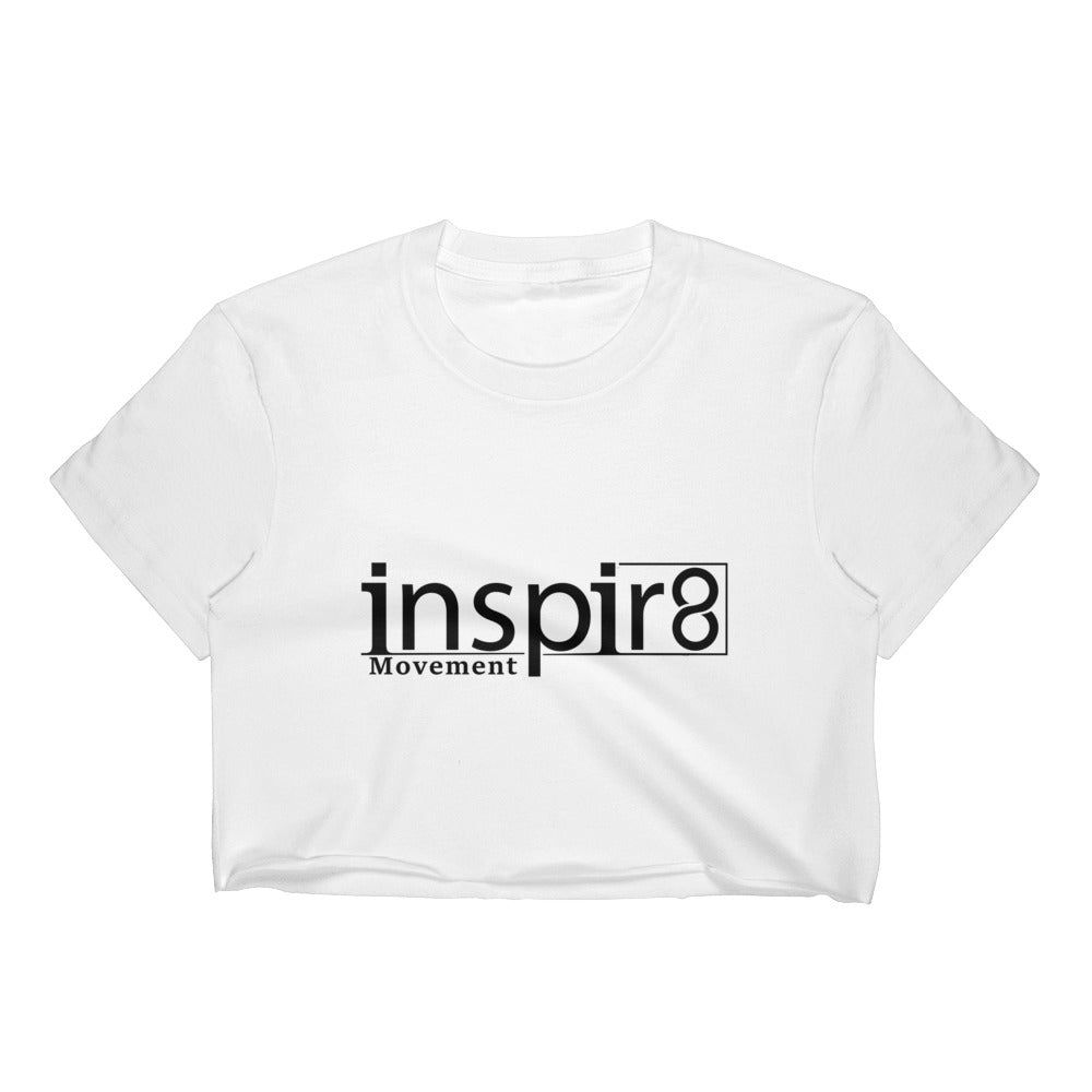 White inspir8 Movement Crop Top
