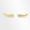 14K SOLID GOLD WITH DIAMOND MINI EAR CLIMBER