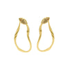 MIRAGE EARRING IN 18K BRASS WITH SUNSTONE