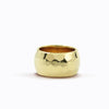 SOLID 14K GOLD LARGE HAMMERED RING
