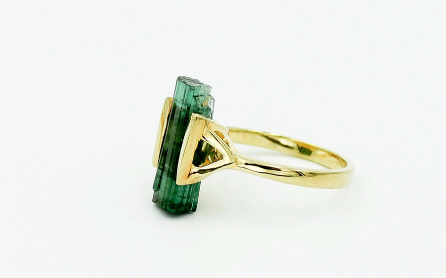 RAW TOURMALINE RING XII