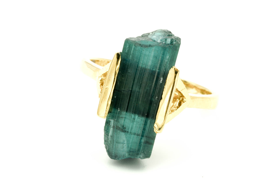 RAW TOURMALINE RING XI