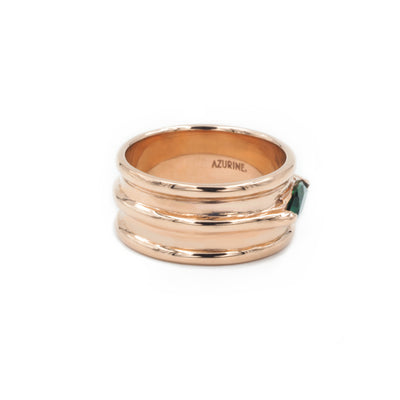 VELI PINKY RING IN SOLID 14K ROSE GOLD