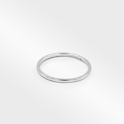 THIN FLAT STERLING SILVER RING