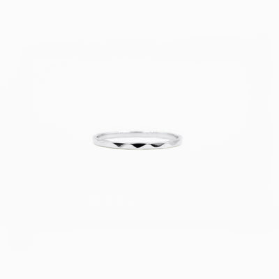 THIN STERLING SILVER RIPPLE RING