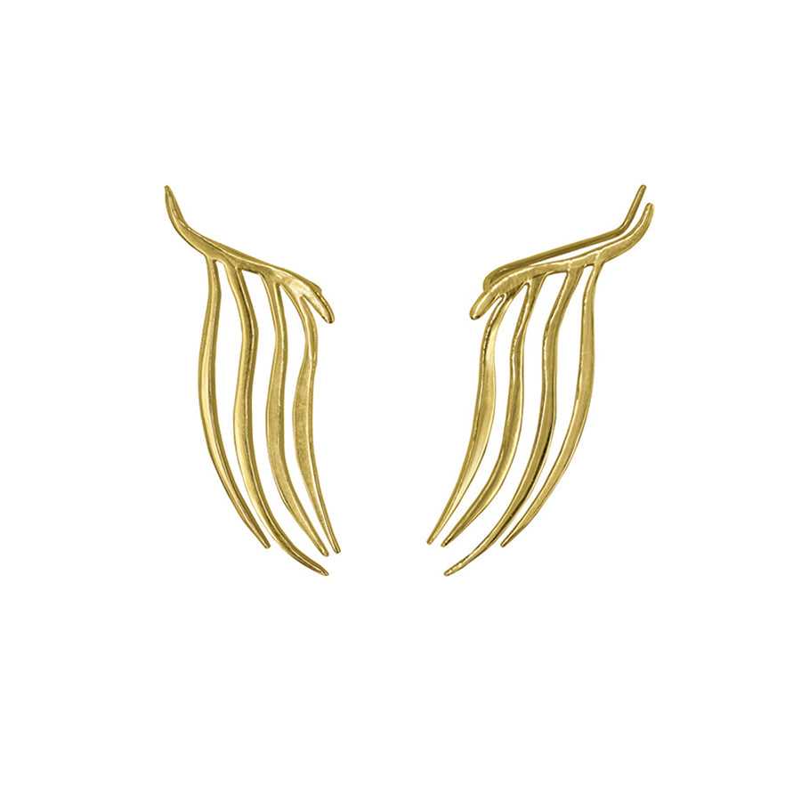 ZAHIRAH TENDRIL CLIMBER EARRING IN 14K VERMEIL