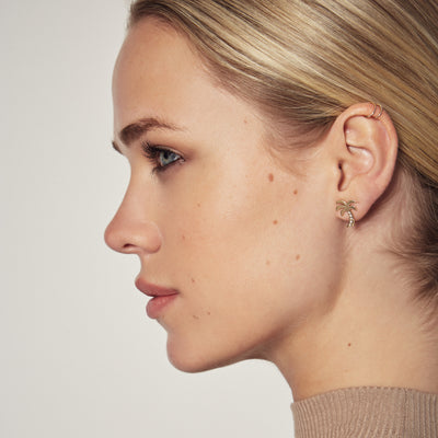 LINA EARRING IN 18K PLATED BRASS WITH SAPPHIRES