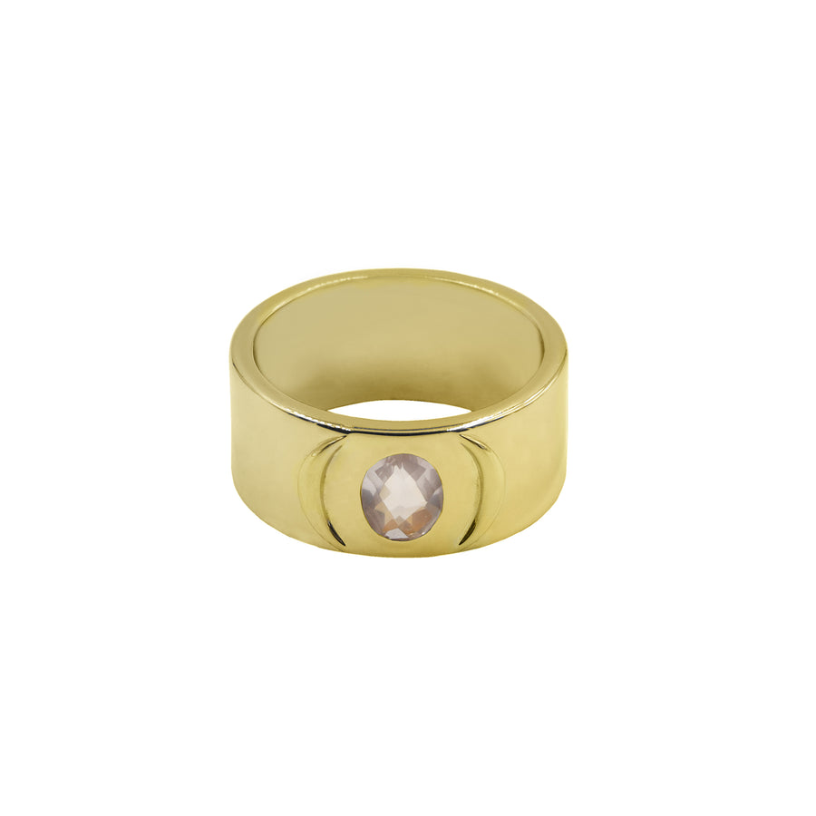 SAHAR CRESCENT RING IN SOLID 18K GOLD