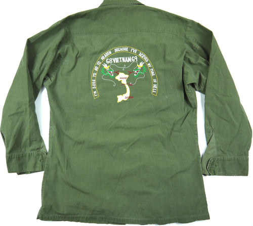 68-69 VIETNAM TOUR custom VINTAGE 60s JUNGLE JACKET poplin military S reg
