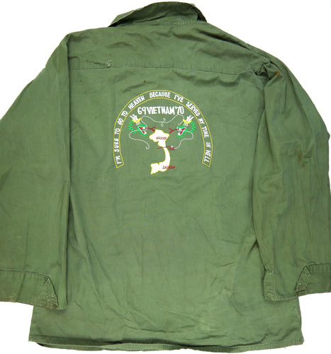 69-70 VIETNAM TOUR custom VINTAGE 60s JUNGLE JACKET poplin military M reg