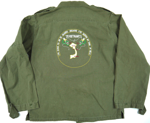 70-71 VIETNAM TOUR womens custom VINTAGE JUNGLE JACKET poplin military utility shirt