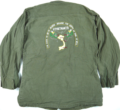 68-69 VIETNAM TOUR custom VINTAGE 60s JUNGLE JACKET poplin OG107 military S