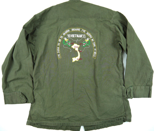 70-71 VIETNAM TOUR custom VINTAGE JUNGLE JACKET military S ARMY RANGER OG-107