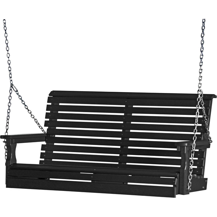 LuxCraft Rollback 4ft. Recycled Plastic Porch Swing
