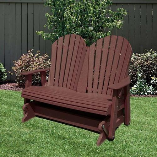 Wildridge Heritage 4 ft. Recycled Plastic 2 Seat Glider Chair