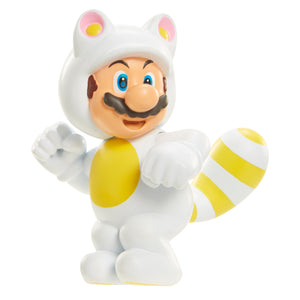 "World of Nintendo 2.5"" Limited Articulation White Tanooki Mario"