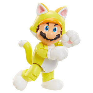 World of Nintendo Cat Mario with Bell Action Figure 4""